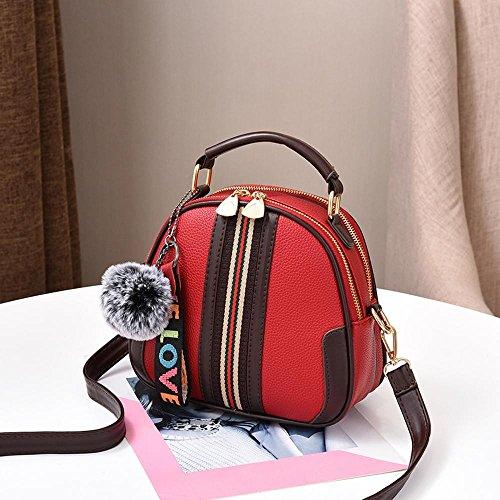 Aoligei Côté petite bosse de rayures Fashion sac sac à main épaule unique tendance croix oblique simple généreux élégant centaines tour B