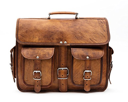 porterbello –�?Hatton Cross' Medio Realizzato a mano in pelle Satchel