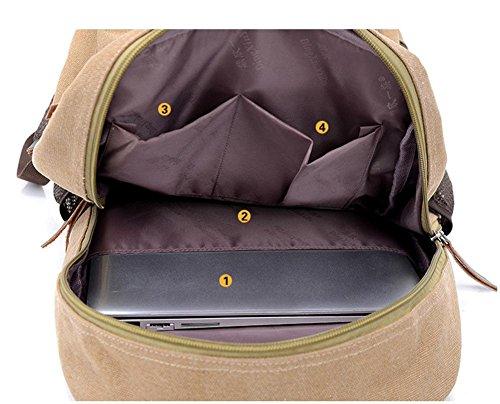 Viajes ocio lona mochilas de los hombres , coffee color Khaki