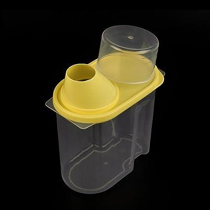 Plástico hermético Contenedores recipiente para malas hierbas secas alimentos pasta de cereales dispensador de harina de