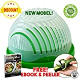 Salad Cutter Bowl 60 Seconds Perfect Fruit and Vegetable Chopper Slicer Insta Maker with FREE Peeler and 2 x Healthy Cooking E-Books (Gift Box)