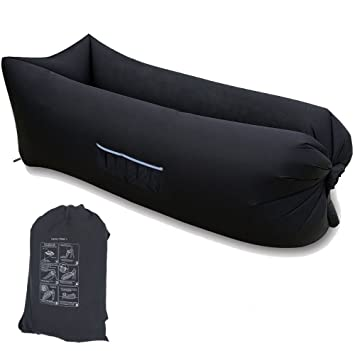Home-Neat Lazy Bag laybag Saco de Dormir rápido Aire Inflable Camping Playa de Dormir sofá Cama salón de Cuadrado Bolsa Aire Cama Tumbona: Amazon.es: ...