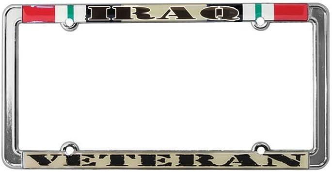 Veteran US Navy Steel License Plate Frame Tag Holder STHANCAT OF TAMPA
