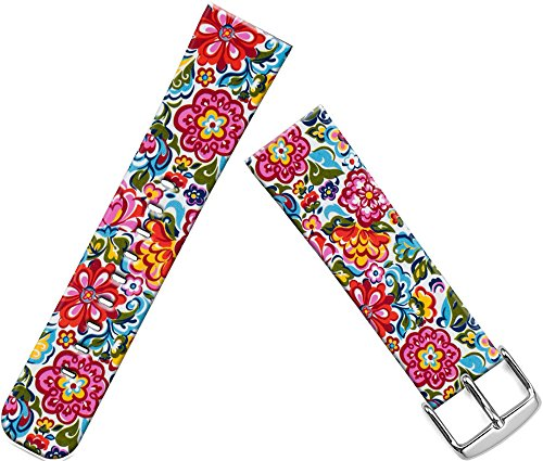 Bands Replacement for Iwatch 38mm/40mm & Cisland Leather Strap Compatible for Apple Watch Series 1/2/3/4 Sport & Edition Red Wonderful Girly Floral Print