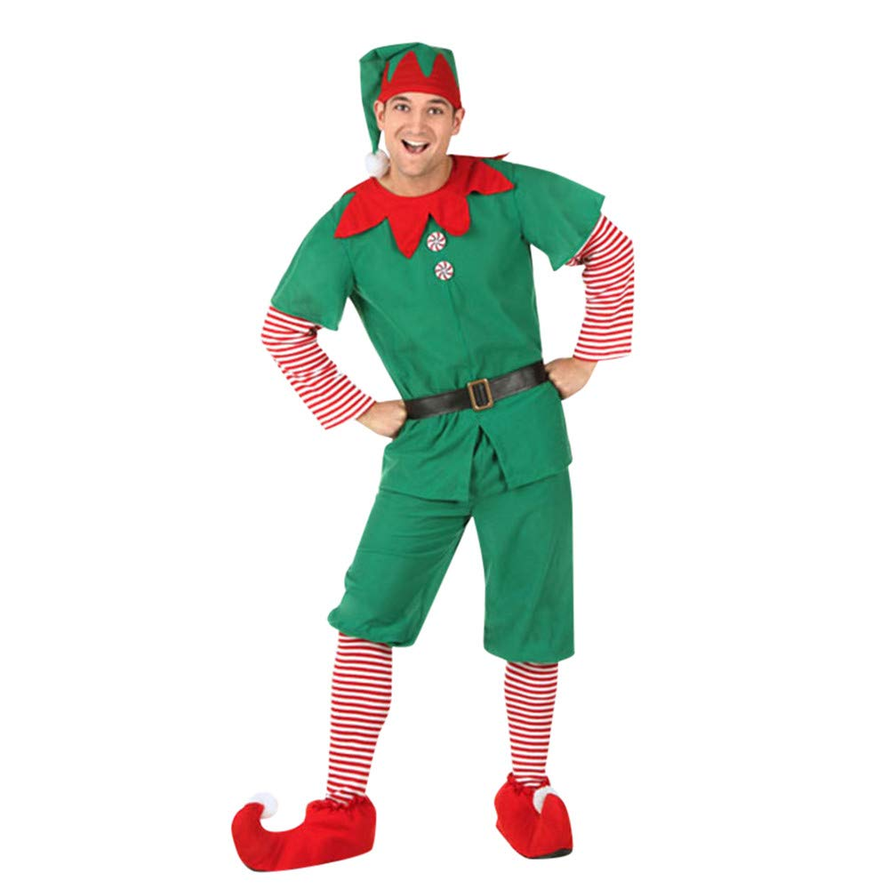 Family Matching Christmas Elf Costume Sets for Mommy Daddy Toddler Baby Girls Boys (Size:M, Mommy) Kintaz