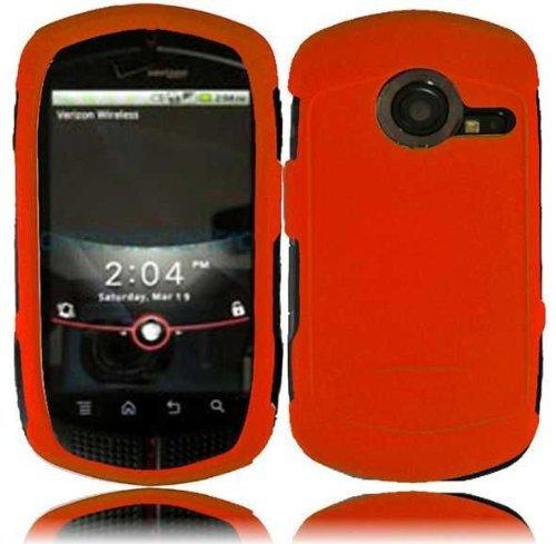 Casio G'zOne C771 Rubberized Cover - Orange (Casio Cell Phone Covers)