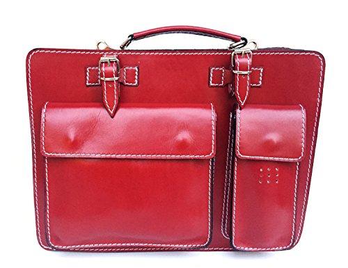 in Cartella Superflybags Made documenti Classic Porta XXL Vera Borsa 41x30x10 Italy modello rosso Pelle ZqRTqp0wcB