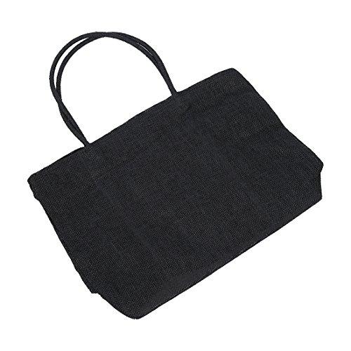Sodial (r) Borsa Da Donna Tote Bag Da Spiaggia Tessitura Paglia Estate Con Cerniera Da Viaggio Nera