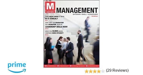 M management thomas s bateman scott a snell robert konopaske m management thomas s bateman scott a snell robert konopaske 9780077862596 amazon books fandeluxe Choice Image