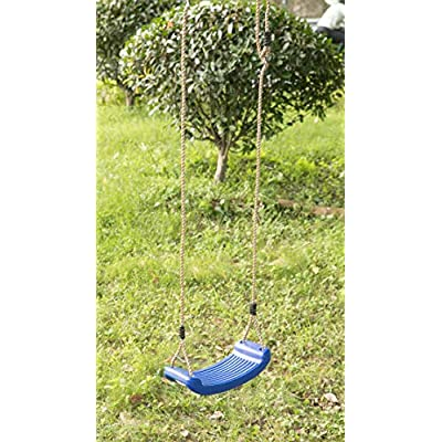 PLAYBERG Plastic Playground Board Swing, Blue: Toys & Games