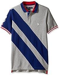 U.S. Polo Assn. Men's Diagonal Stripe Short Sleeve Classic Fit Shirt