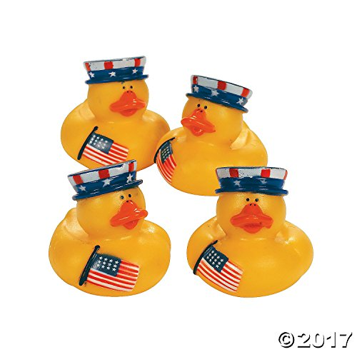 Dozen Patriotic July Rubber Duckys