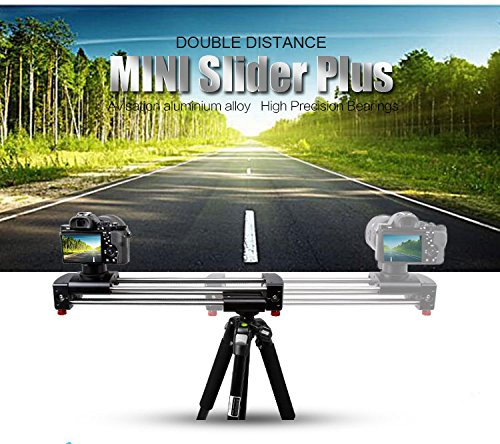 Latour Aluminum Alloy Extendable Double Travel Distance Track Dolly Rail Slider Video Stabilizer for Camcorder DSLR