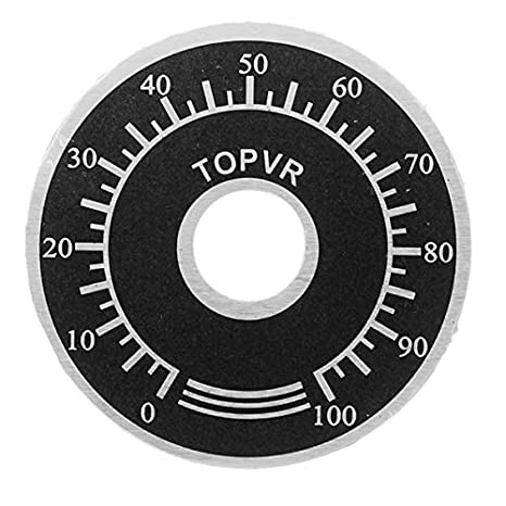 10PCS Rotary Caps Potentiometer Knobs With 10PCS Counting Dial 0-100 Scale New