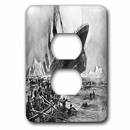 3dRose lsp_80330_6 1912 Artists Rendering Of Sinking Of The Titanic 2 Plug Outlet Cover