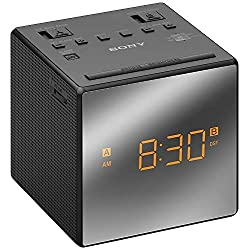 Sony AM/FM Dual-Alarm Clock Radio (ICF-C1T) Black