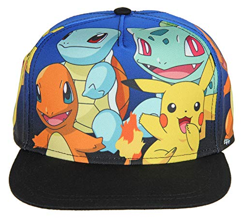 Pokemon The Original Starters Group Blue Gradient Youth Snapback Cap (Pokemon Games For My Boy Gba Emulator)