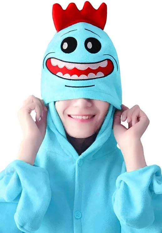 wotogold Pijamas de Rick Azul Animal Trajes de Cosplay Adultos ...