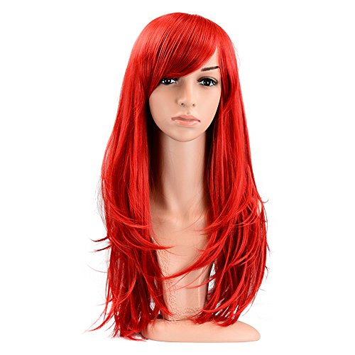 PINKISS LS103RED Fashion Colorful Harajuku Style Cosplay Wig with Free Cap]()