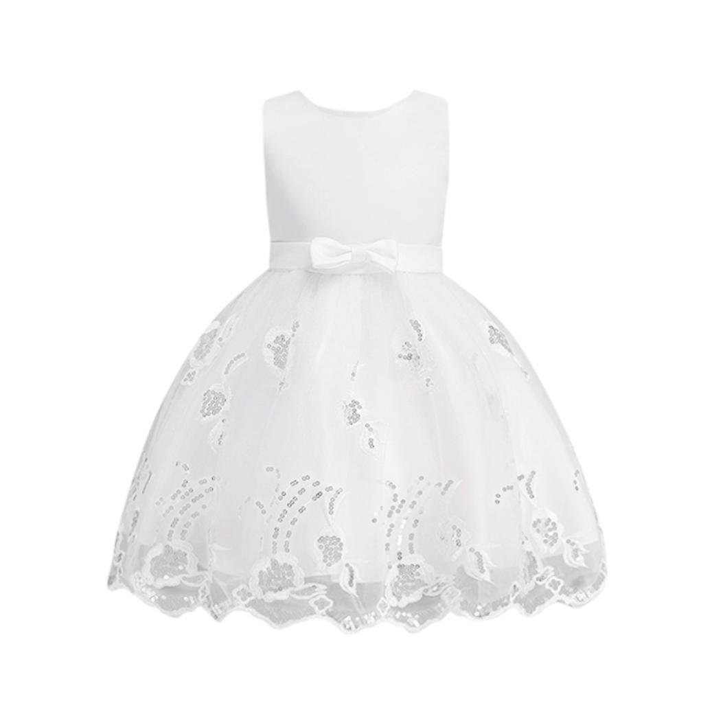 SMALLE◕‿◕ Clearance,Flower Baby Girl Princess Bridesmaid Pageant Gown Birthday Party Wedding Dress