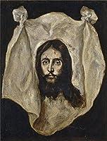 Theポリエステルキャンバスの油絵` El Greco The Holy Visage 159095`、サイズ: 10x 13インチ/ 25x 34cm、この素晴らしいアート装飾キャンバスプリントは、フィットのホーム、地下室装飾アートワークとギフトの商品画像