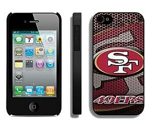 San Francisco 49ers Black Custom Phone Shell iPhone 4S Case Cool Design