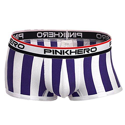 [Men's Underwear,Neartime Short Boxer Briefs Trunk for Men Underwear (2XL, Purple)] (Sexy Fancy Dress Men)