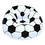 niceEshop(TM) Inflatable Football Sofa Cool Design Bean Bag High Quality Eco-friendly Pvc For Adults And Kids,Black+white, Small