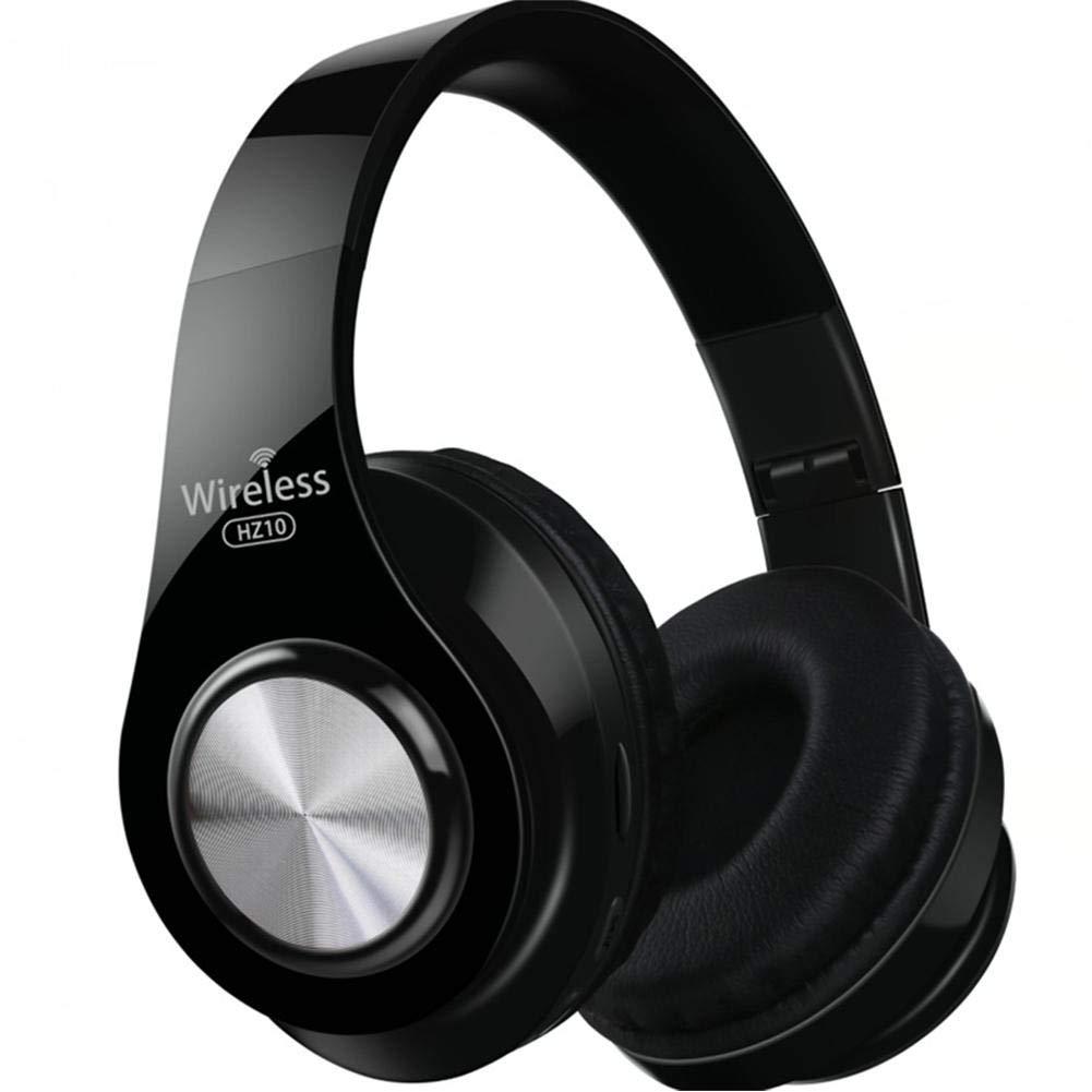 Active Noise Cancelling Headphones Bluetooth Headphones Deep Bass Wireless Headphones Over Ear Comfortable Protein Earpads for Travel/Work Black