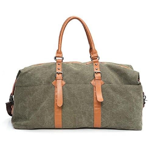 LJ&L Bolsa de equipaje de lona de gran capacidad al aire libre bolsa de equipaje de mano, bolsa de viaje de larga distancia, bolsa de hombro práctica portátil,A,36-55L B