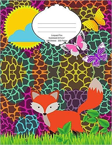 Descargar Libro Electronico Leopard Fox Notebook: School Supplies Composition Book And Journal For Kids Gratis Formato Epub