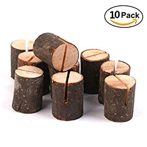 rustic wood table numbers holder wood place card holder party wedding table name card holder memo note card 10pcs