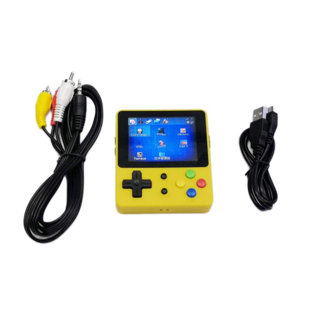 1KTon Mini Recreational Machines Game Player 2.6 Inches Screen Thumbs Palm Console of Nostalgic Children (Yellow) by 1KTon_Pet Toy (Image #4)
