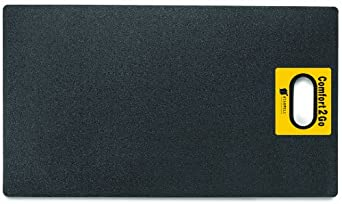 """Wearwell PVC 518 Comfort2Go Heavy Duty Anti-Fatigue Mat, for Dry Areas, 17"""" Width x 30"""" Length x 7/8"""" Thickness, Black"""