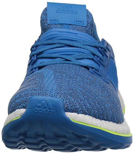 adidas Rendimiento Hombre Pureboost ZG Running Shoe Equipment Blue/Shock Blue/Solar Yellow