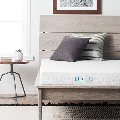 LUCID 5 Inch Gel Memory Foam Mattress - Dual-Layered - CertiPUR-US Certified - Firm Feel - Queen - Innerspring Futon Pad