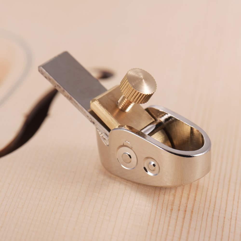 Kalaok 18mm Carpinter/ía Dedo Plano Cortador Alisadora de Acero Inoxidable Juego de Herramientas Luthier para DIY Viol/ín Viola Cello Instrumento de Madera
