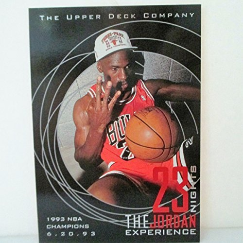 Michael Jordan 1995 Upper Deck 23 nights Jumbo Cards Set of 6 Cards of Historic Moments in Michael Jordans Career
