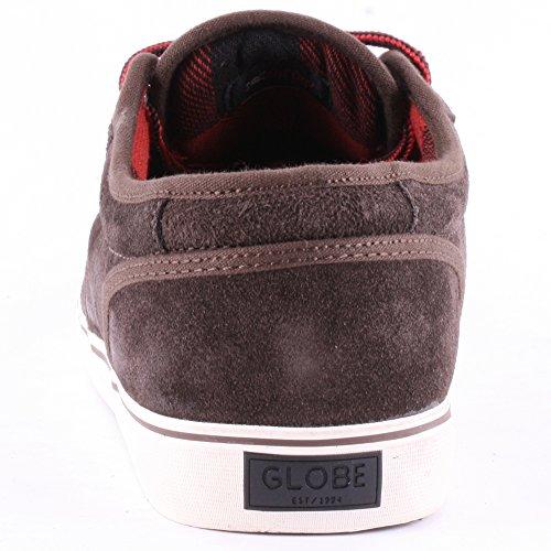 GlobeLos Angered Low - Zapatillas Unisex adulto Marrón - marrón oscuro