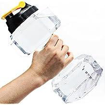 2.2L Dumbbell forma Botella de agua, PETG Deportes Fitness ejercicio Jarra de agua para gimnasio, yoga, Running, al aire última intervensión, ciclismo, ecológico y Camping