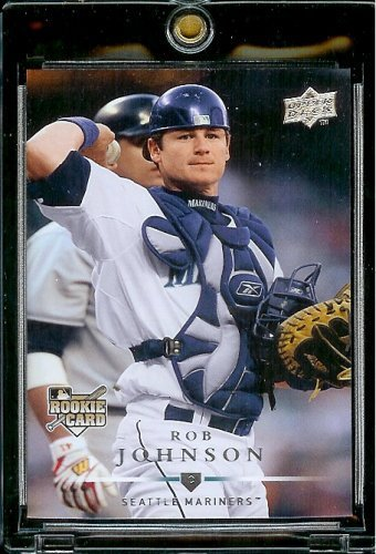 Johnson Mlb Baseball (2008 Upper Deck # 321 Rob Johnson (RC) Mariners - MLB Rookie Baseball Trading Card)
