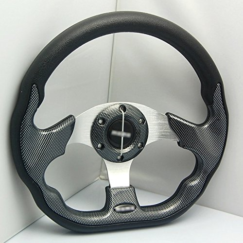 Liquor Car New 13' inch 320mm Aluminum Sport Race Racing Steering Wheel With Horn Button PU Carbon Fiber Color