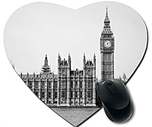 Palace Of Westminster Black And White Mouse Pad Desktop Mousepad Laptop Mousepads Comfortable Office Of Mouse Pad Mat Cute Gaming Mouse Pad