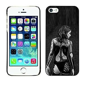 Ziland / Slim Design Case Cover Shel / Woman Black Tattoo Biker / Apple iphone 4 4s