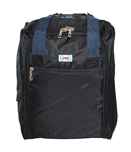 BoardingBlue personal item under seat for the airlines of American, Frontier, Spirit, Black/Navy