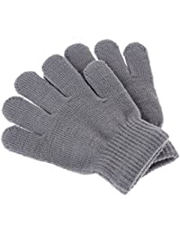 Kids Boys Girls Winter Warm Stretchy Knitted Magic Gloves