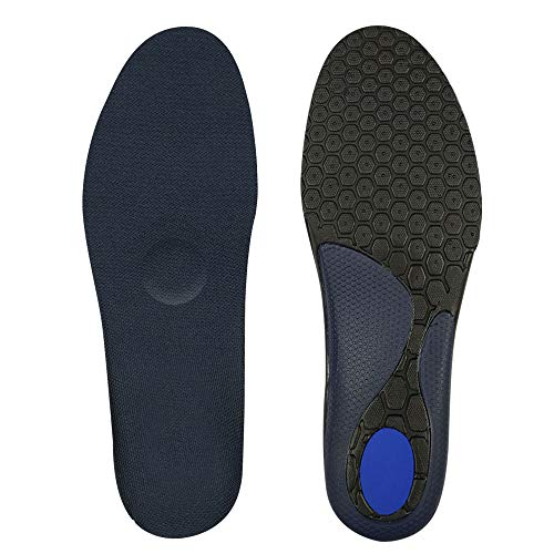LUJI Orthotic Sports Insoles Arch Support - Shock Absorption & Cushioning...