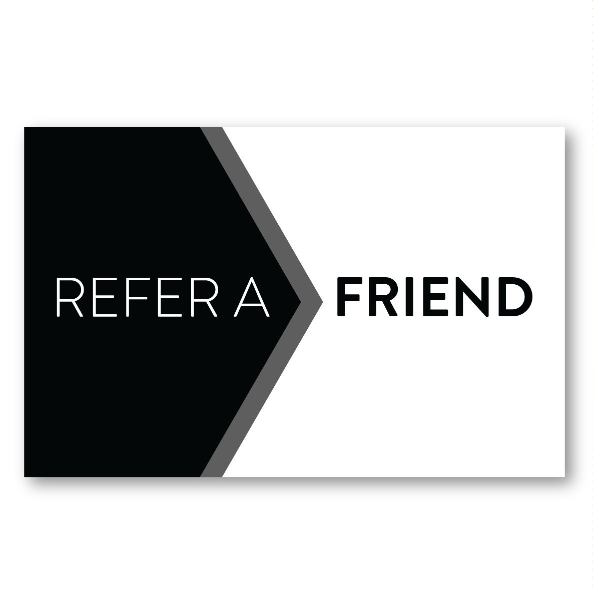 50 x Recommend Refer A Friend Cards For Businesses Start Ups Loyalty Cards BigBold Creative
