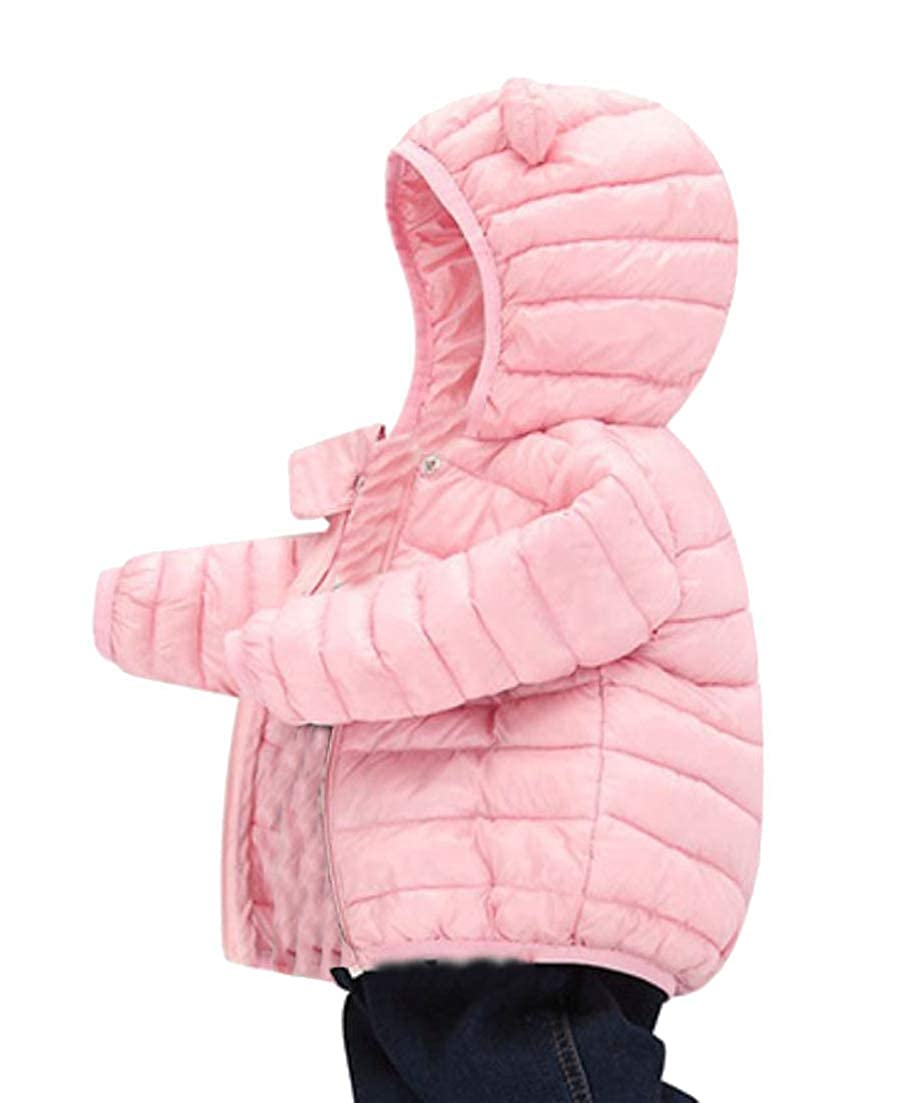 Hajotrawa Boys//Girls Lovely Thermal Parkas Quilted Outerwear Hoodies Down Jacket