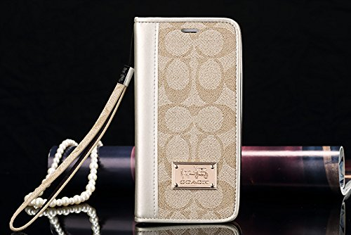 ACO IPhone 8Plus 7Plus -US Fast Deliver Guarantee FBA- New Elegant Luxury PU Leather Wallet Style Flip Cover Case For Apple IPhone7PLUS IPhone8PLUS (Gold) (Coach Iphone Case)